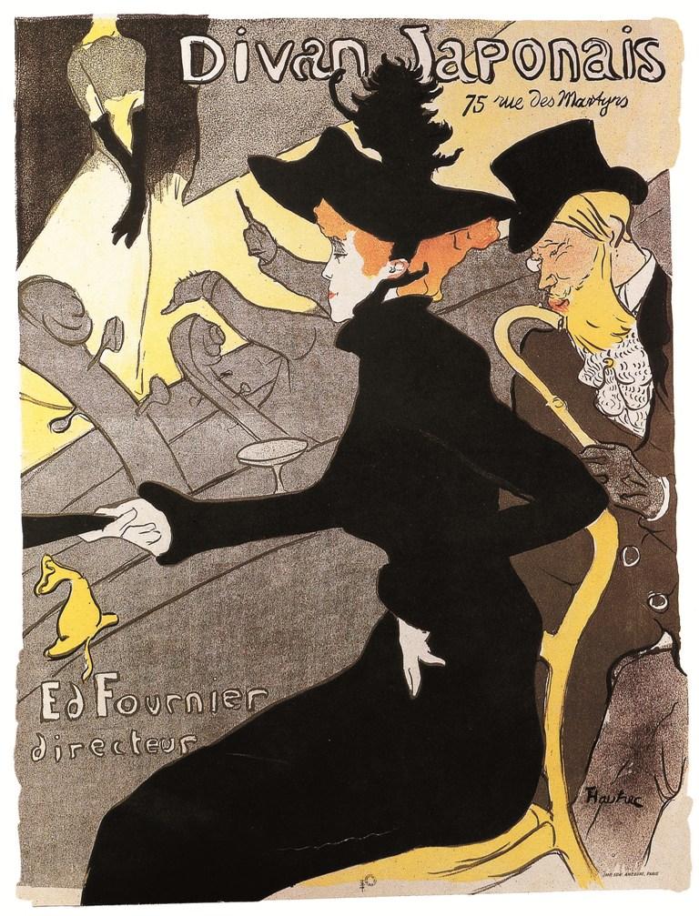 Henri de Toulouse-Lautrec, Divan Japonais,1892-1893, manifesto, collezione privata