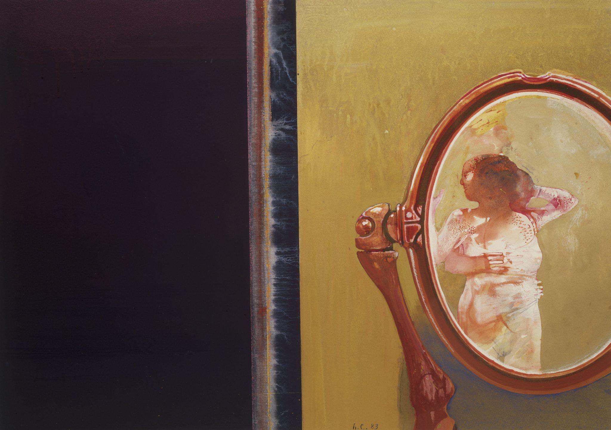 Il desiderio e la notte, 1983, tempéra et aquarelle, 45 x 53,5 cm
