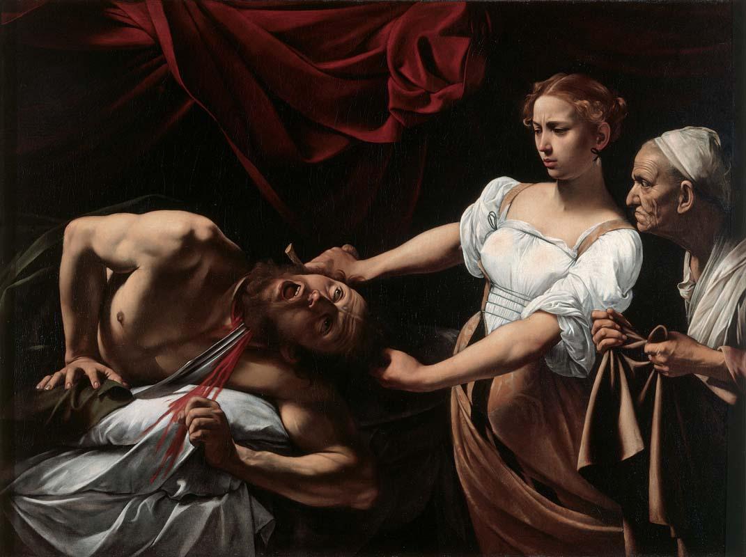 Michelangelo Mersisi da Caravaggio - Giuditta che taglia la testa a Oloferne, 1602