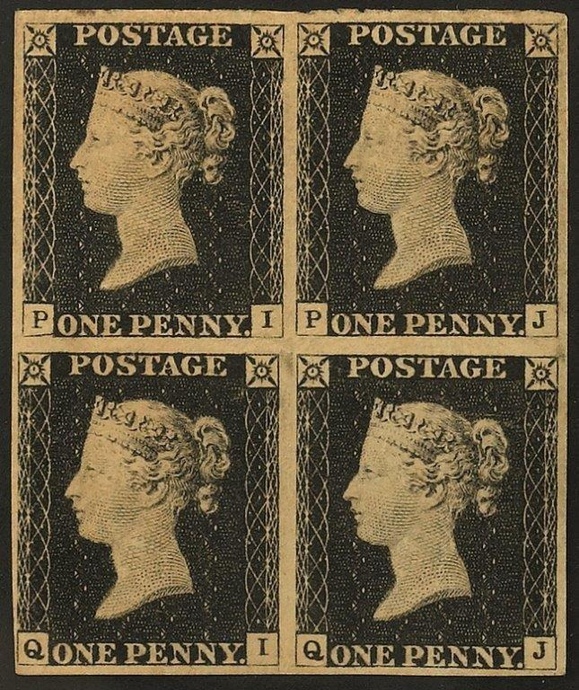 Un Penny Black di Gran Bretagna del 1840 in asta da Bolaffi a 25 mila€