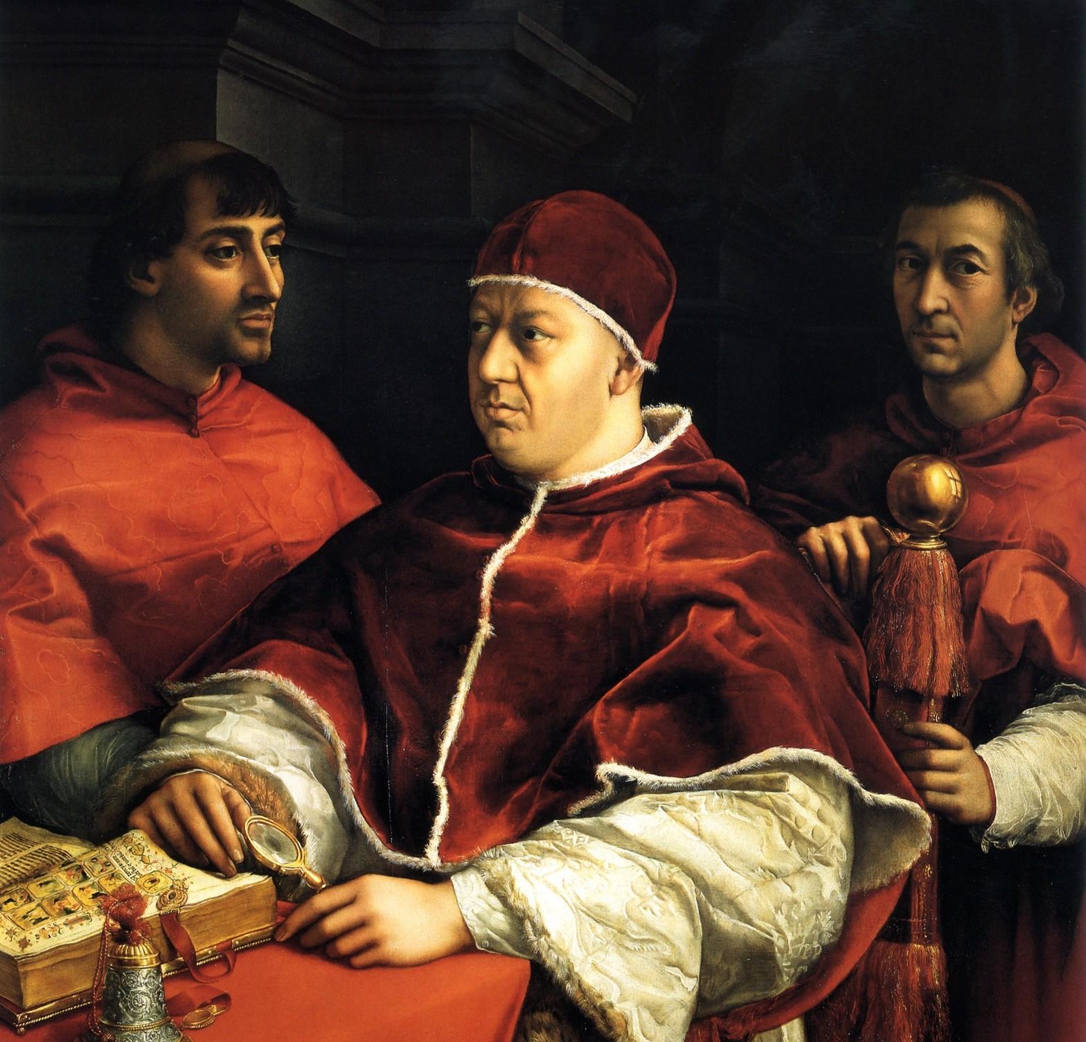Il Ritratto di Papa Leone X de' Medici di Raffaello