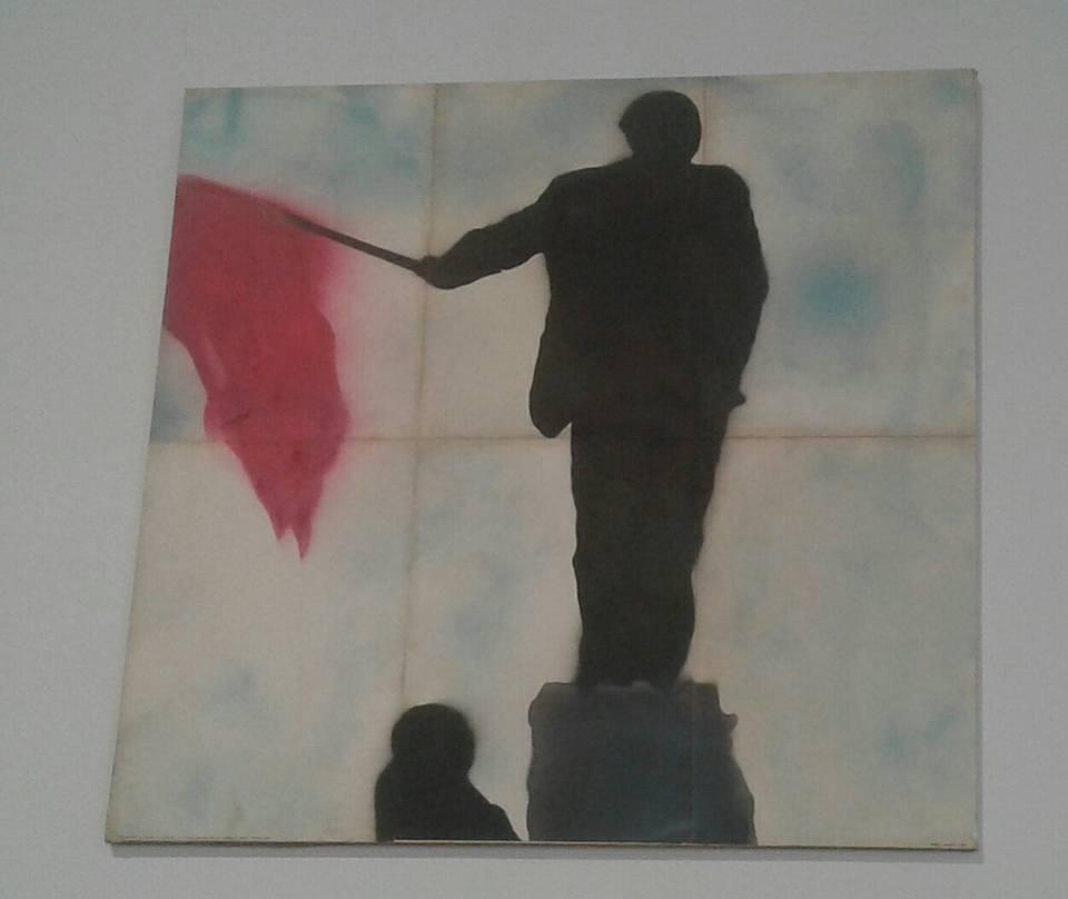 Franco Angeli - Ritratto di Mao con Bandiera Rossa -1968