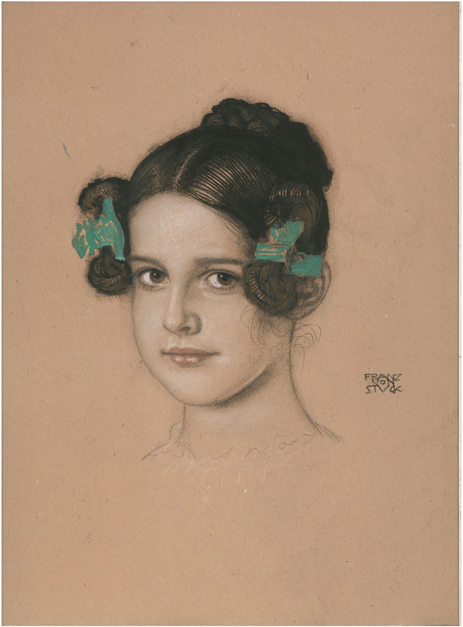 Franz von Stuck, Mary Stuck, 1906 ca., gessetto e tempera su cartoncino, cm 42x315. Courtesy Galleria dell'Incisione