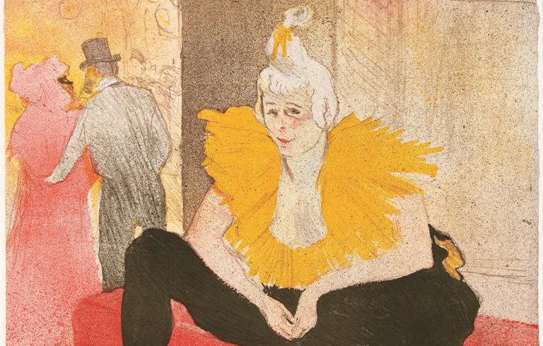 Henri de Toulouse-Lautrec, Mademoiselle Cha-U-Kao, 1896, tavola 1 della serie Elles, Bibliothèque Nationale de France, Parigi