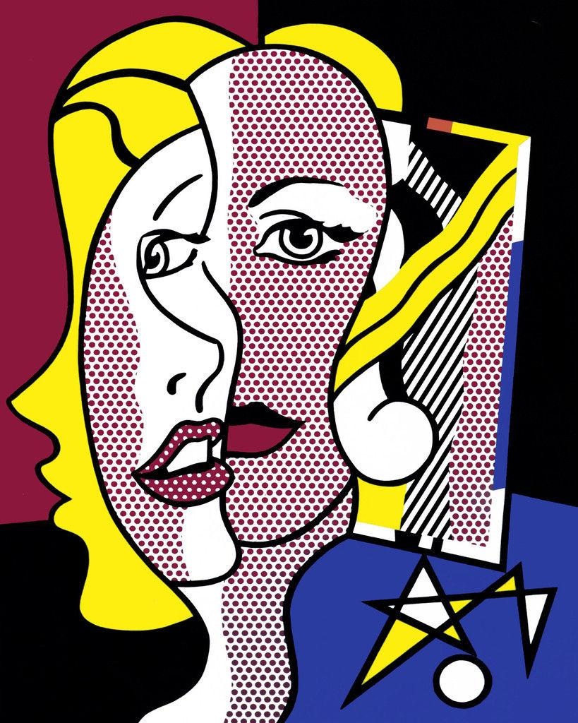 Roy Lichtenstein Female Head, 1977