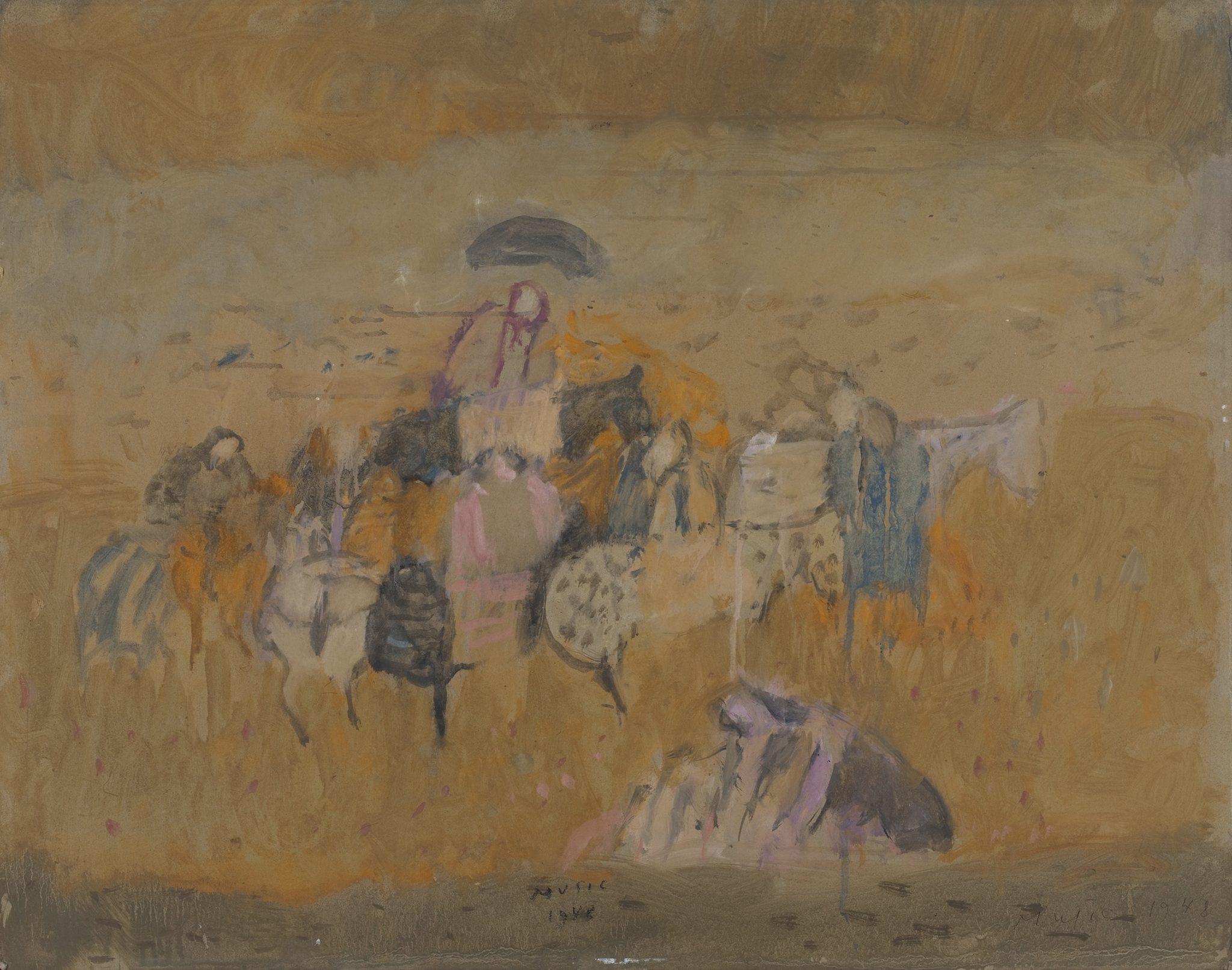 Zoran Music, Motivo dalmata, 1948, olio su cartone, cm. 51,5 x 65,5 cm - Courtesy Galleria d'Arte Maggiore g.a.m., Bologna/Milano - foto Matteo Monti