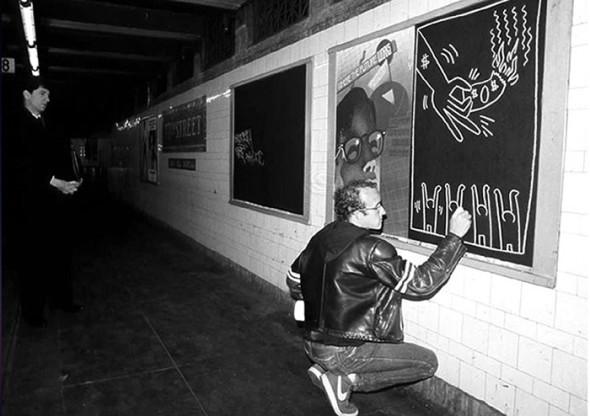 8. Keith Haring, Subway drawings
