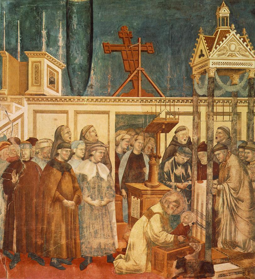 Giotto, Il presepe di Greccio (1290-1295 ca) , Assisi, San Francesco, Basilica Superiore.