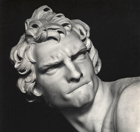 Particolare del David di Bernini