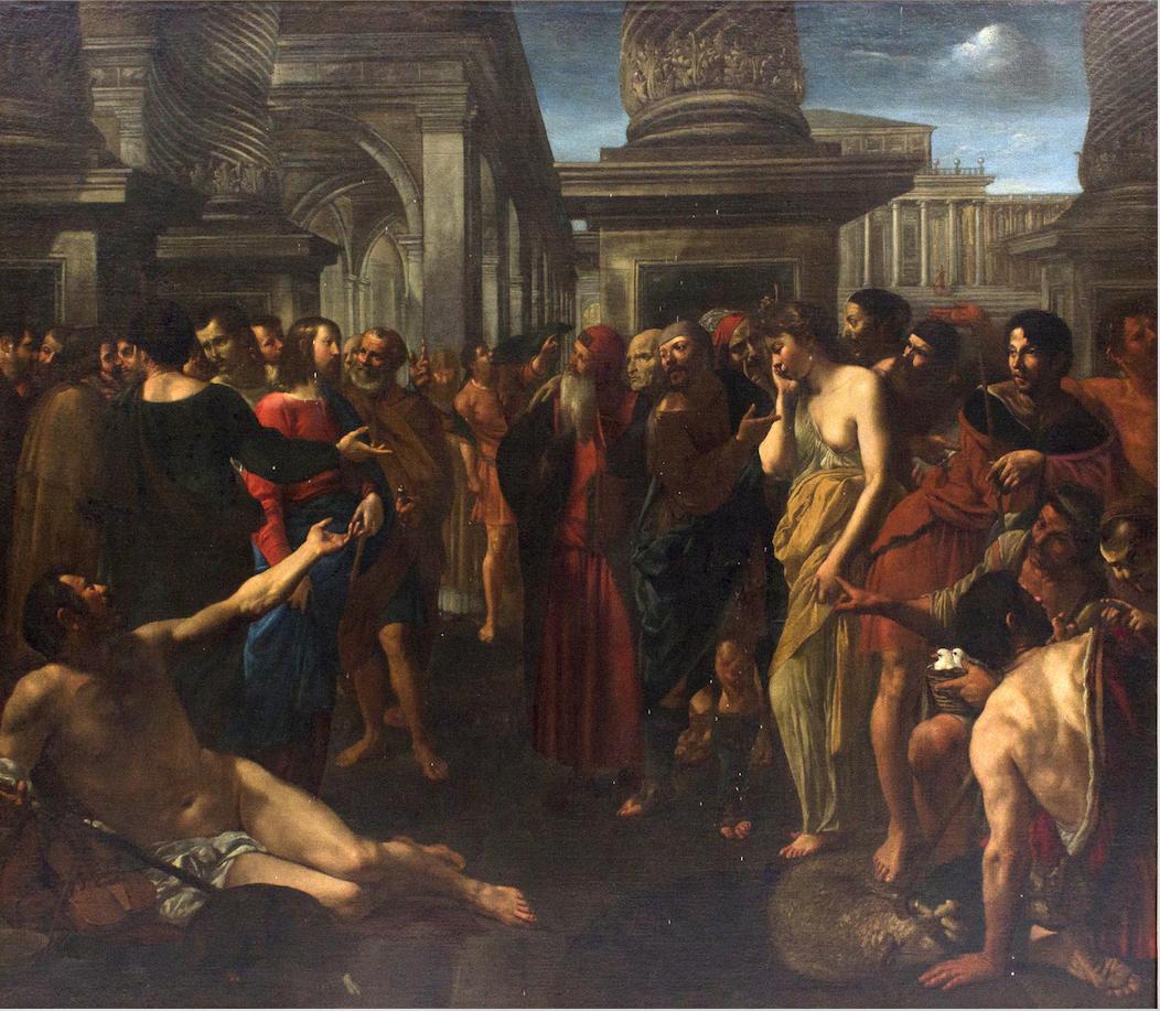'Cristo e l'adultera' di Angelo Caroselli: battuto a 9 volte la stima da Bertolami