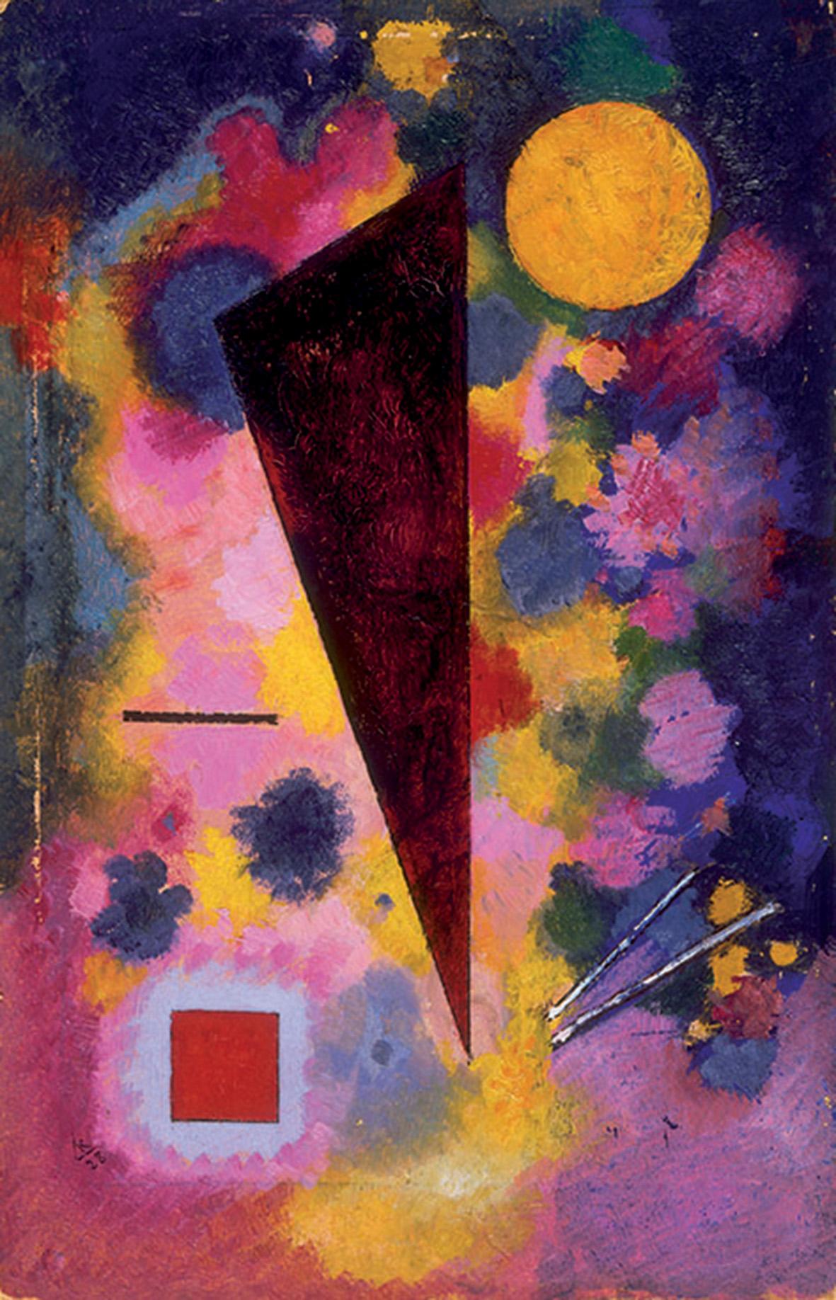 Vassily Kansindsky, Bunter Risonanza Multicolore, 1928, olio su cartone. Parigi, Centre Pompidou