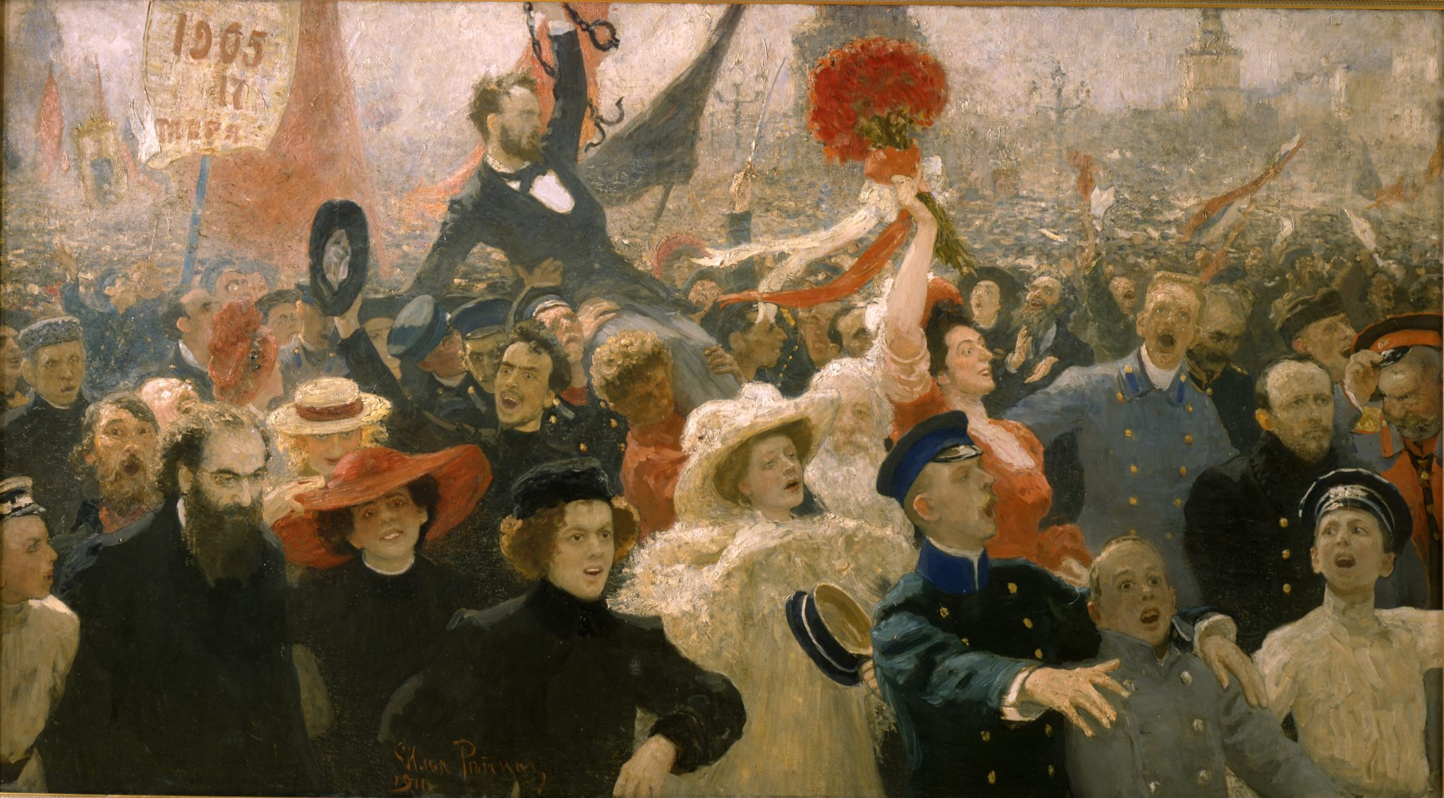 . Il'ja Repin, 17 ottobre 1905, 1907 Olio su tela, 184 x 323 cm ©State Russian Museum, St. Petersburg