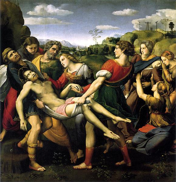Raffaello. Trasporto del Cristo morto