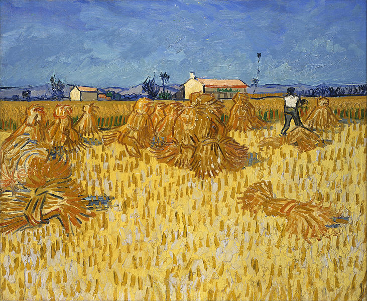 Vincent van Gogh Corn Harvest in Provence 1888