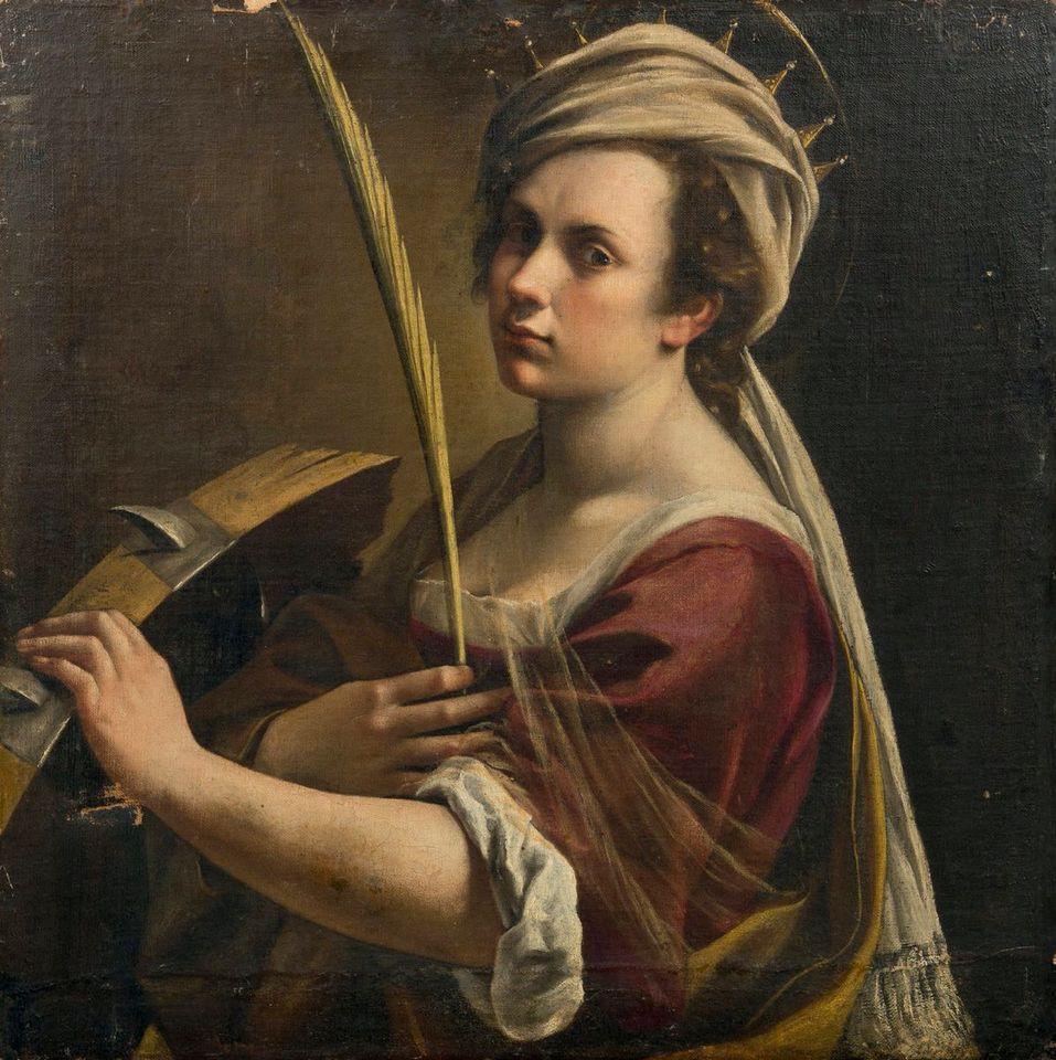 Artemisia Gentileschi, Autoritratto come Santa Caterina, 1614-16