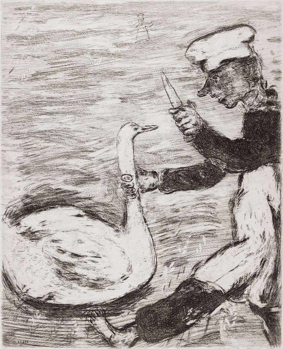 Chagall, il cigno e il cuoco