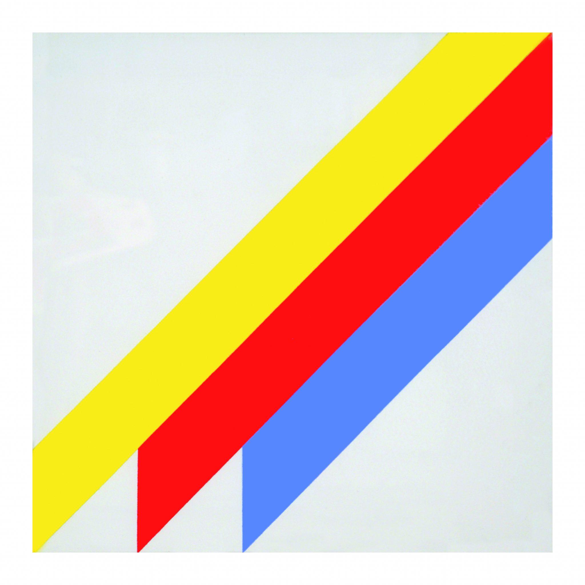 Winfred Gaul, (Senza Titolo) 1971, acrilico su tavola, 50x50 cm