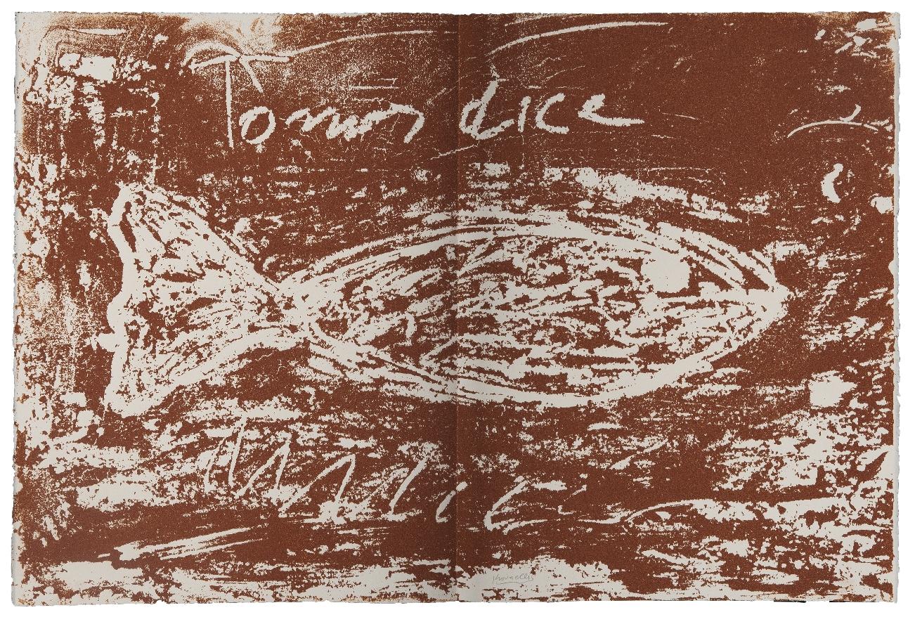 Jannis Kounellis, The Gospel According to Thomas (4), 2000, serigrafia (Riproduzione fotografica Antonio Idini)