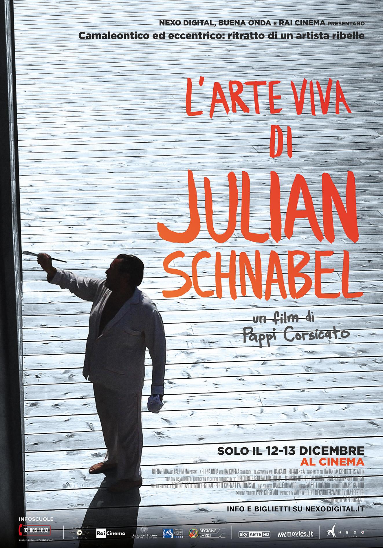 Al cinema L'arte viva di Julian Schnabel: camaleontico ed eccentrico