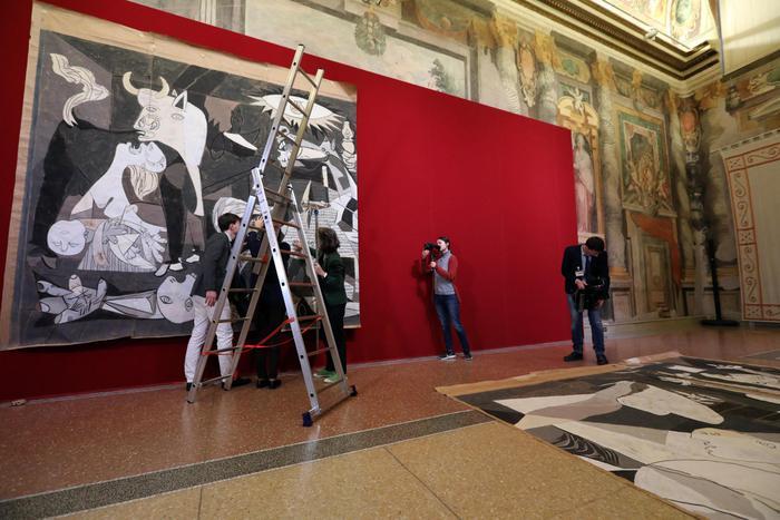 Il cartone di Guernica è arrivato a Roma