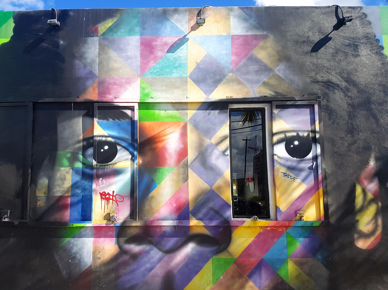 Murales con Basquiat nel Wynwood Art District
