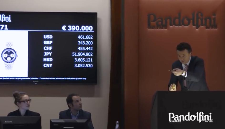 Rolex Daytona 'Paul Newman': prezzo record di 478.800 € da Pandolfini
