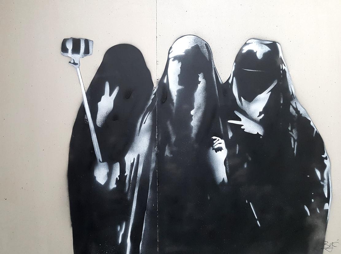 Być, Burqa selfie, 2017