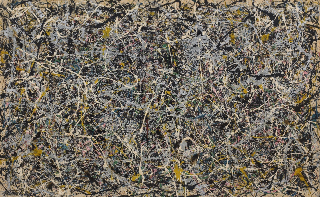 Number 1, 1949, 1949 Enamel and metallic paint on canvas 63 × 102 in 160 × 259.1 cm