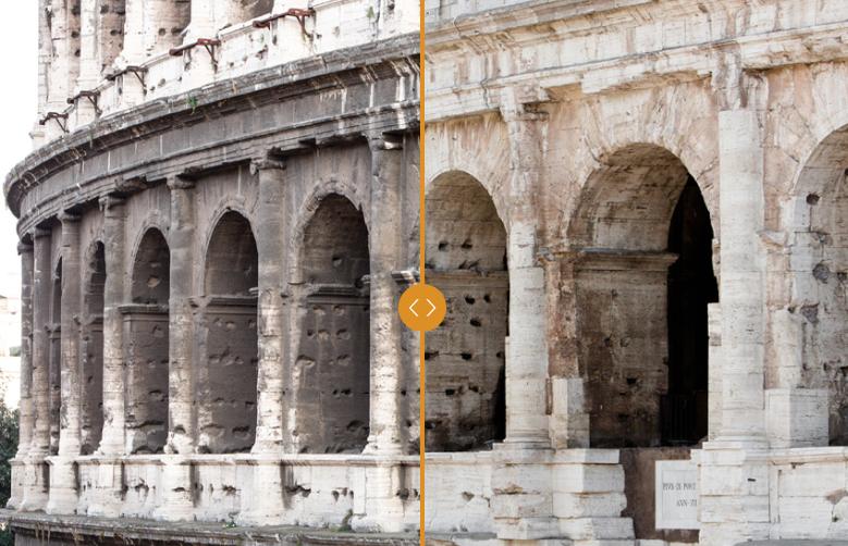 Il prima e il dopo nel restauro del Colosseo sponsorizzato da Tod's