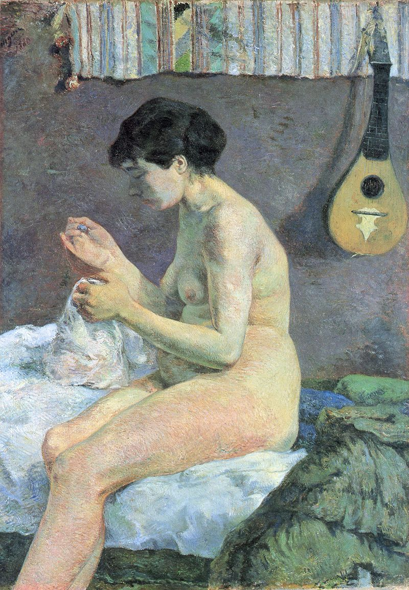Paul Gauguin Study of a Nude (Suzanne sewing), 1880