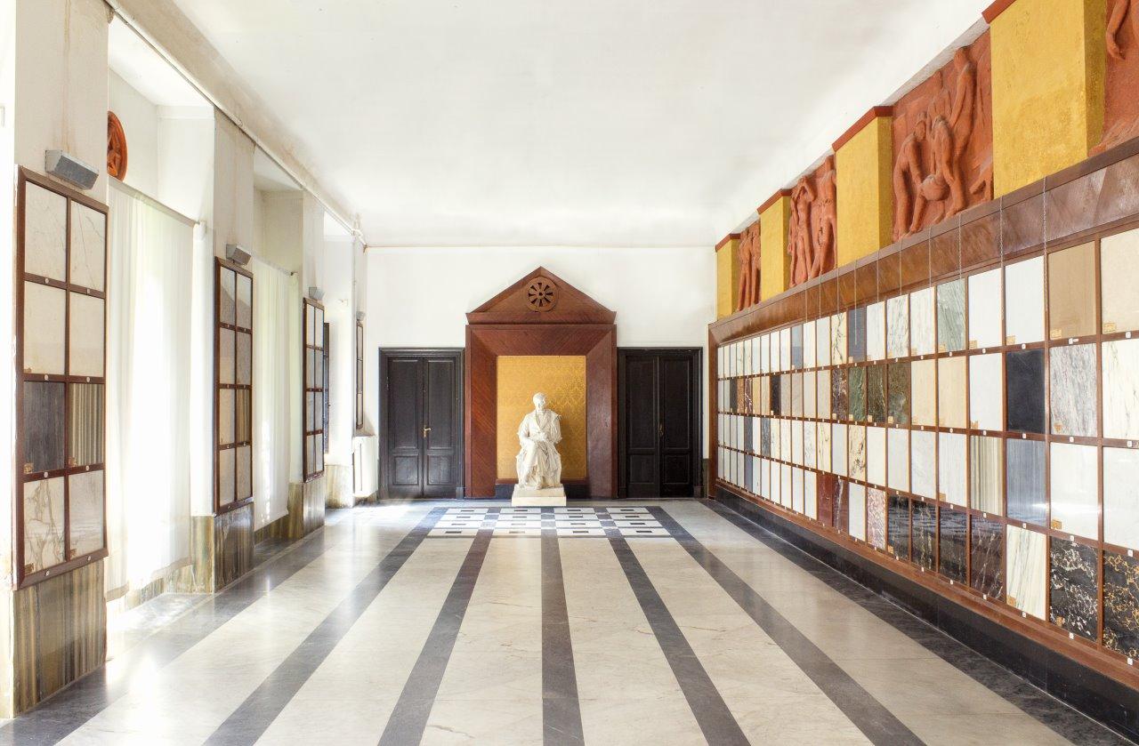 progetto di restauro della Sala del Campionario dei Marmi dell'Accademia di Belle Arti di Carrara