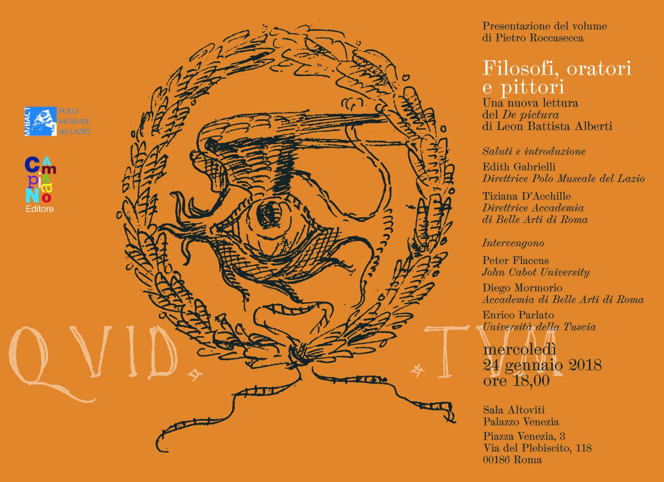 Filosofi, oratori e pittori. Una nuova lettura del De pictura di Leon Battista Alberti