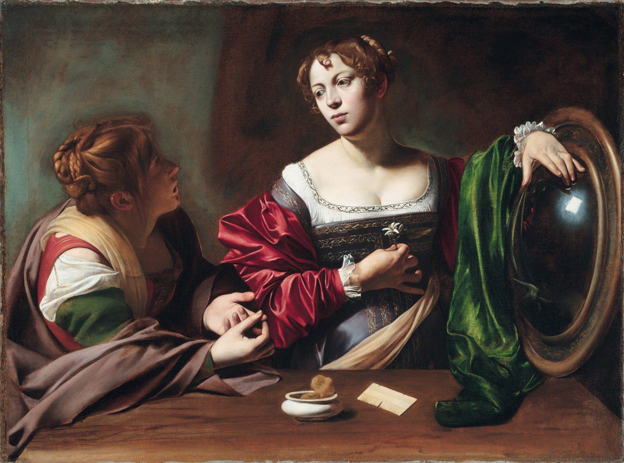 Michelangelo Merisi da Caravaggio, Marta e Maria Maddalena, 1598-1599, Detroit Institute of Arts