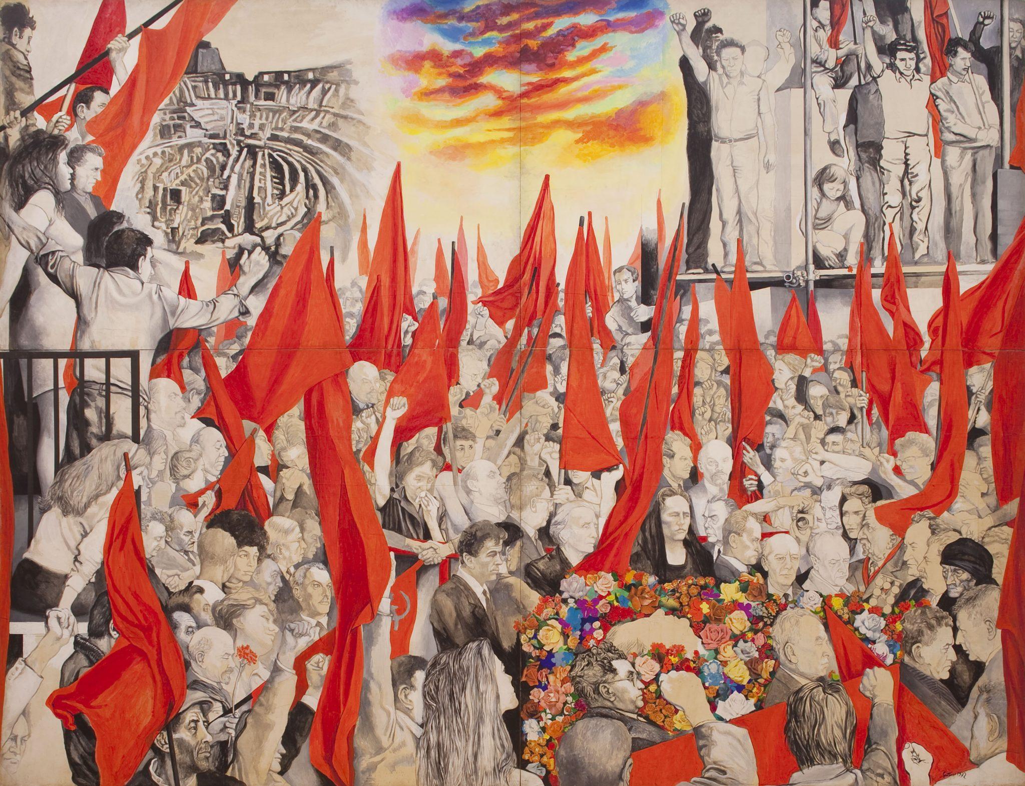 Renato Guttuso , Funerali di Togliatti , 1972