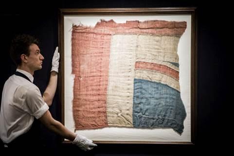 £297,000 per la bandiera della battaglia di Trafalgar da Sotheby's