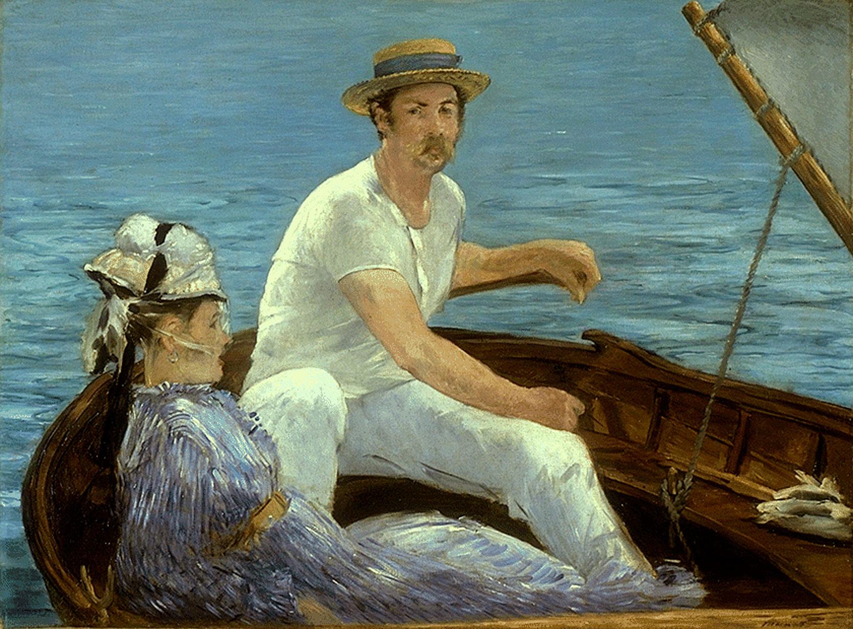 Édouard Manet Boating, 1874
