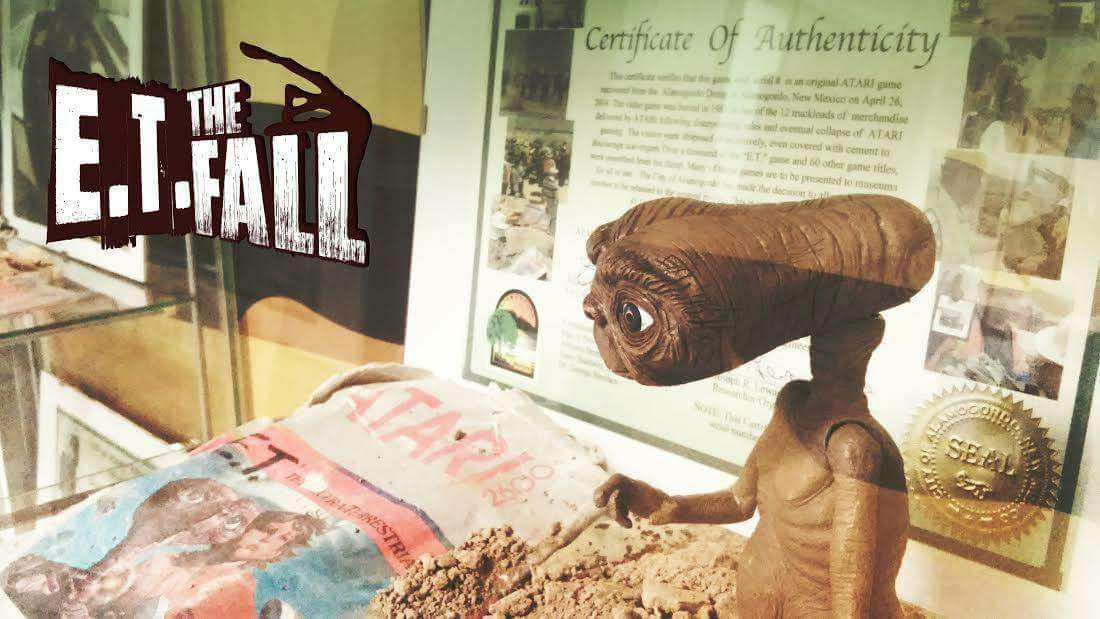 Immagine tratta dalla mostra E. T. The Fall al VIGAMUS - The Video Game Museum of Rome