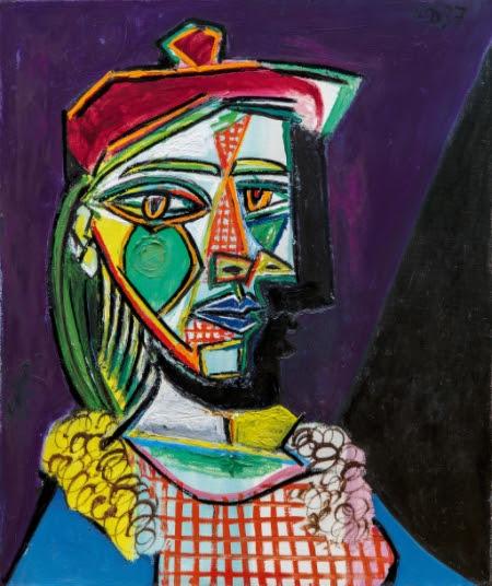 Pablo Picasso. Femme au béret et à la robe quadrillée (Marie-Thérèse Walter) (1937)