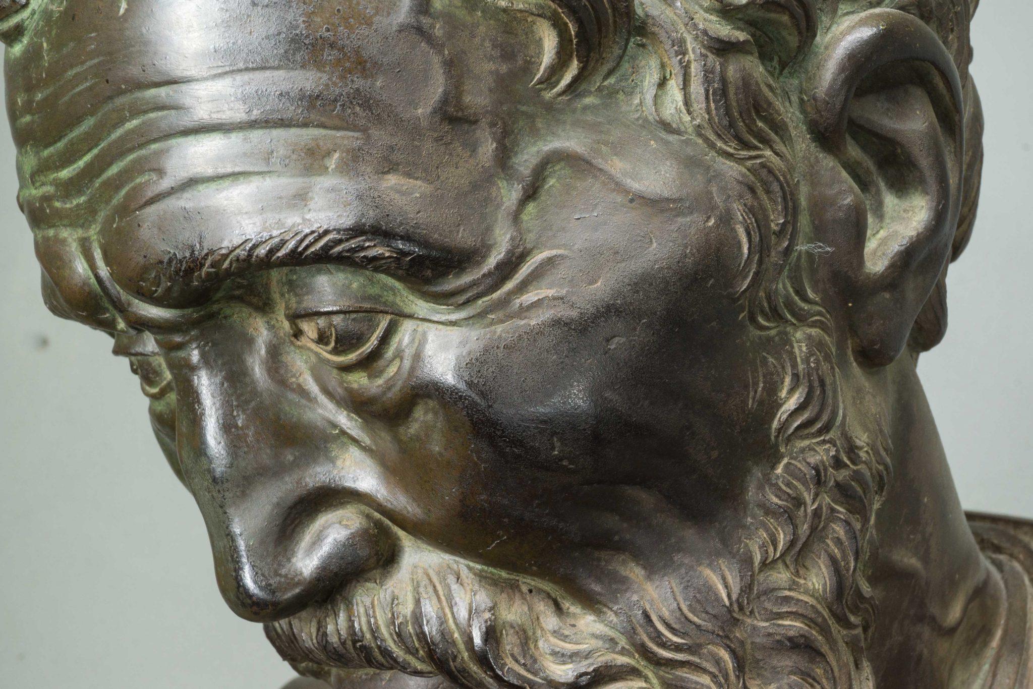 """""""Daniele da Volterra, Busto in bronzo di Michelangelo Buonarroti (prima del restauro), Galleria dell'Accademia di Firenze"""""""