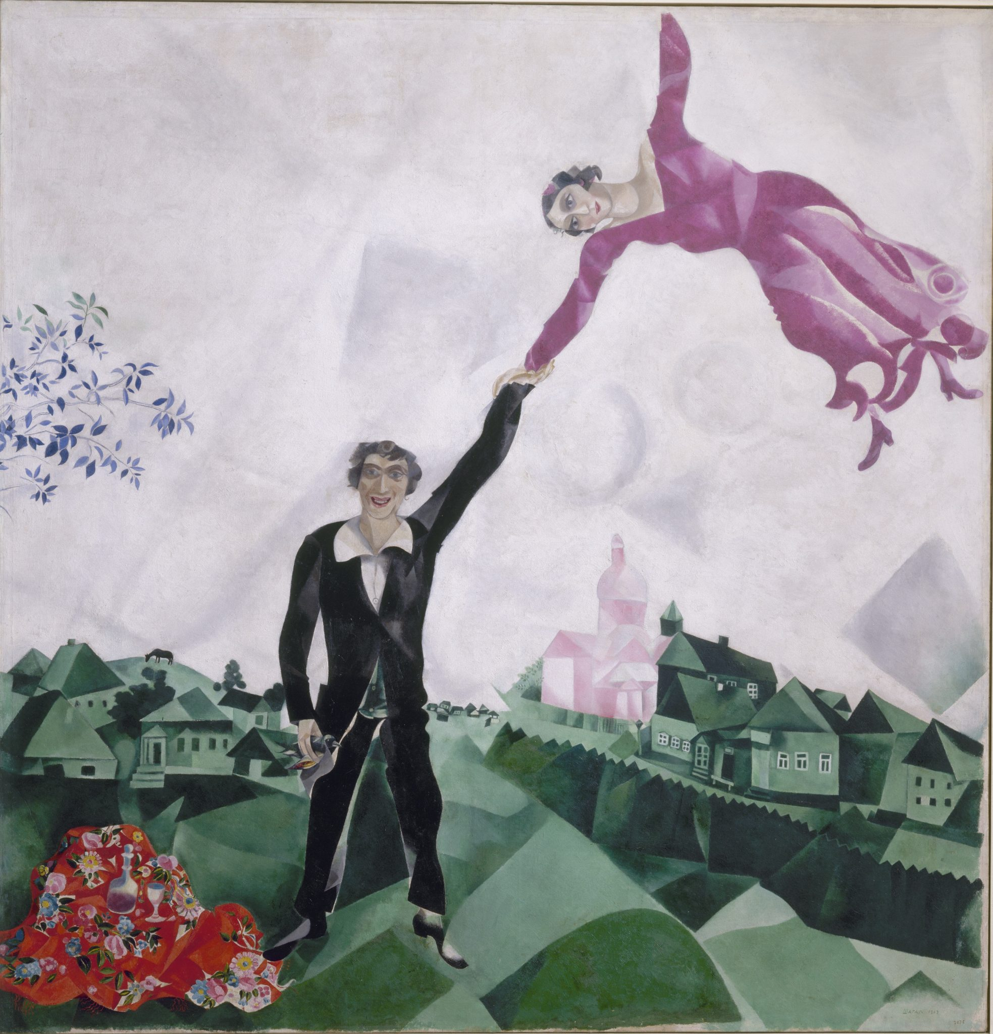 Revolutija Marc Chagall, La passeggiata, olio su tela