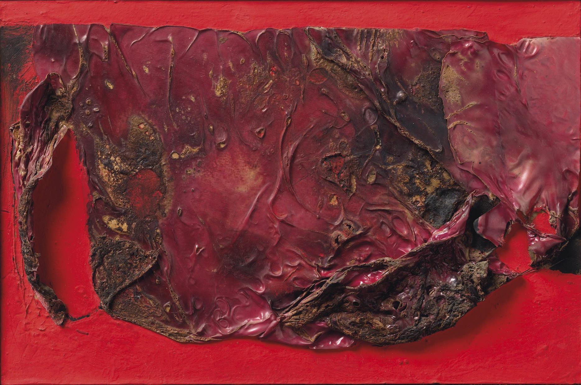 ALBERTO BURRI 1915 - 1995 Rosso Plastica, 1961