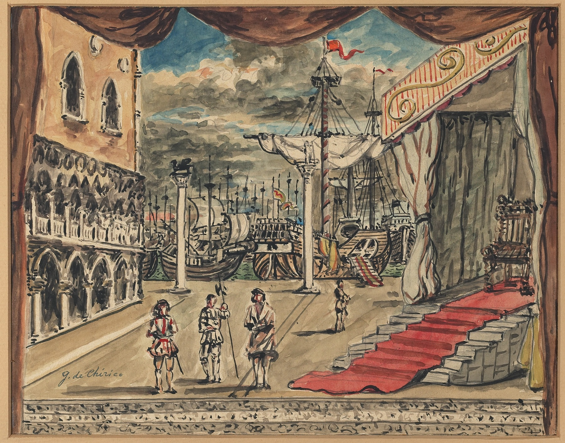 Artisti all'Opera - Giorgio De Chirico, sipario per Otello, 1964, tela dipinta a tempera