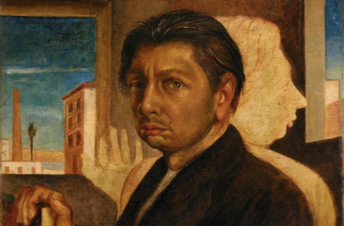 Giorgio de Chirico, Autoritratto metafisico (1919, particolare)