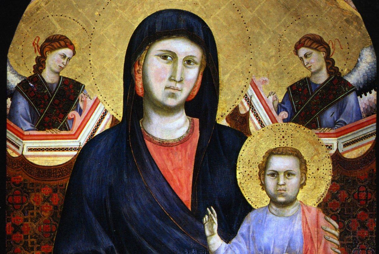 La Madonna di San Giorgio alla Costa, di Giotto (foto Antonio Quattrone, particolare)