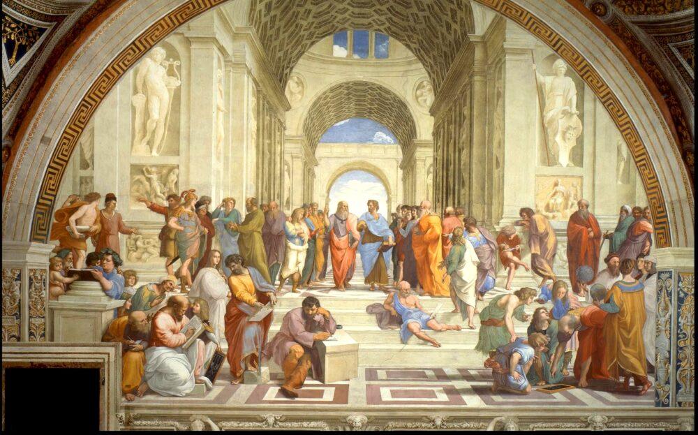 La Scuola di Atene, di Raffaello