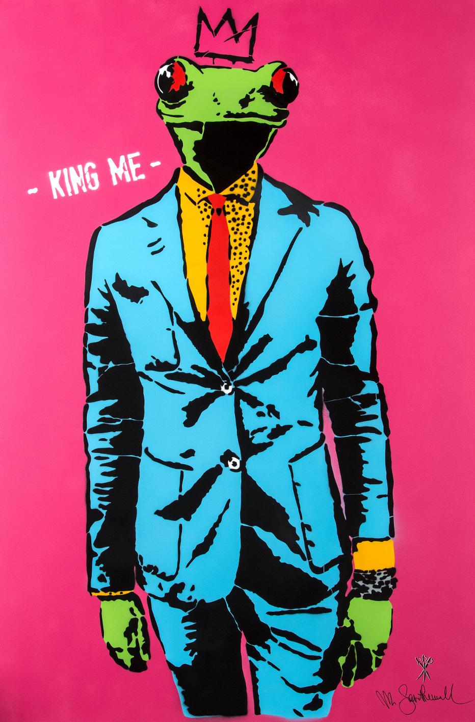 Mr. Savethewall King Me 2018 tecnica mista su tela cm 150x100 © Emanuele Scilleri