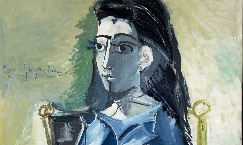 Picasso, Jacqueline assise avec son chat, 1964 (particolare)