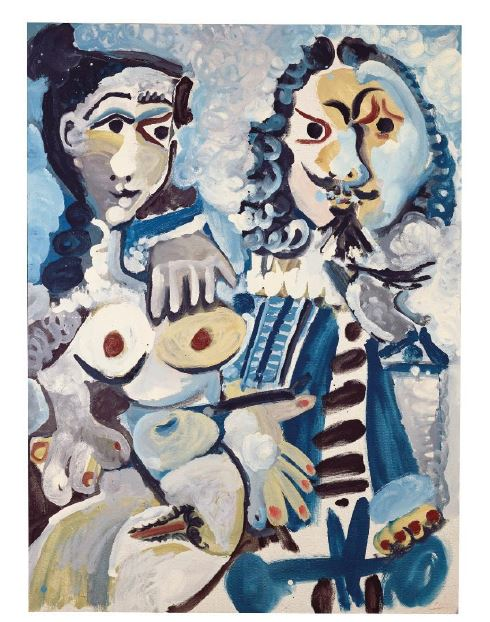 Pablo Picasso, Mousquetaire et nu assis, oil and Ripolin on canvas (1967, estimate: £12,000,000-18,000,000)