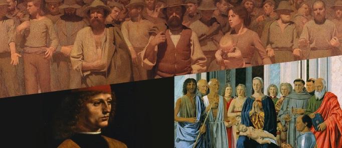 """Cover della mostra del Palazzo Reale di Milano per la mostra """"Quinto Stato"""" nell'ambito di Museo City con le immagini di vari quadri famosi"""