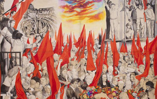 Renato Guttuso, I funerali di Togliatti, 1972, GAM, Torino